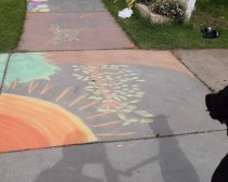 chalked pavement 7