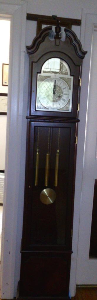 grandfather clock in hallway