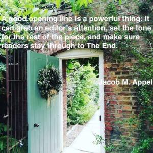 opening into a garden