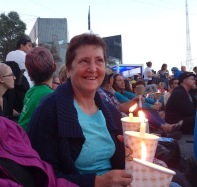protest candles in fed square 2014