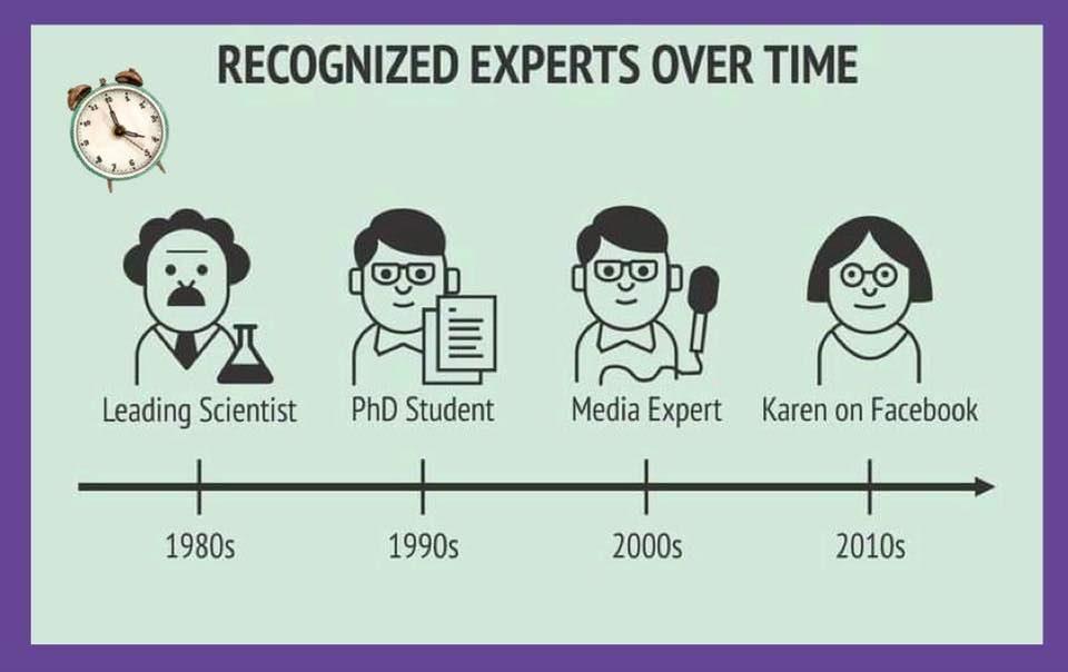 recognized experts meme