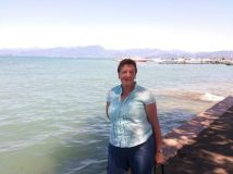by lake garda sirmione and me