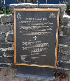 gallipoli centenary 2015 plaque mordialloc