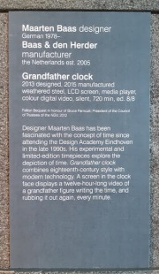 info on clock at NGV