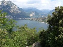 view of lake garda and mountains