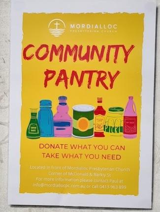 community pantry notice
