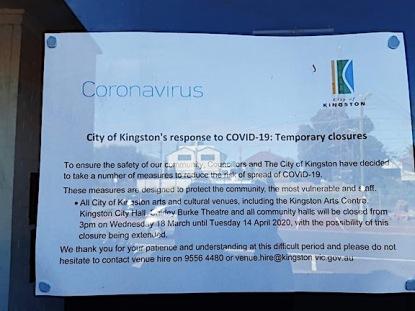 kingston council notice at alan mclean hall