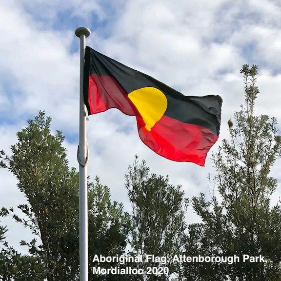 Aboriginal flag in Mordialloc