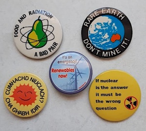 selection of protest badges